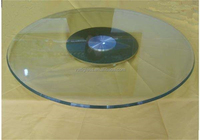 Tempered glass base and mirror top center table design glass dining table