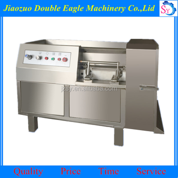 Jiaozuo double eagle sale full automatic Frozen beef block slices with slices and pieces/Fresh meat dicing machine