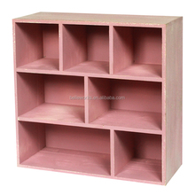 Pink Colour Wooden Bookshelf