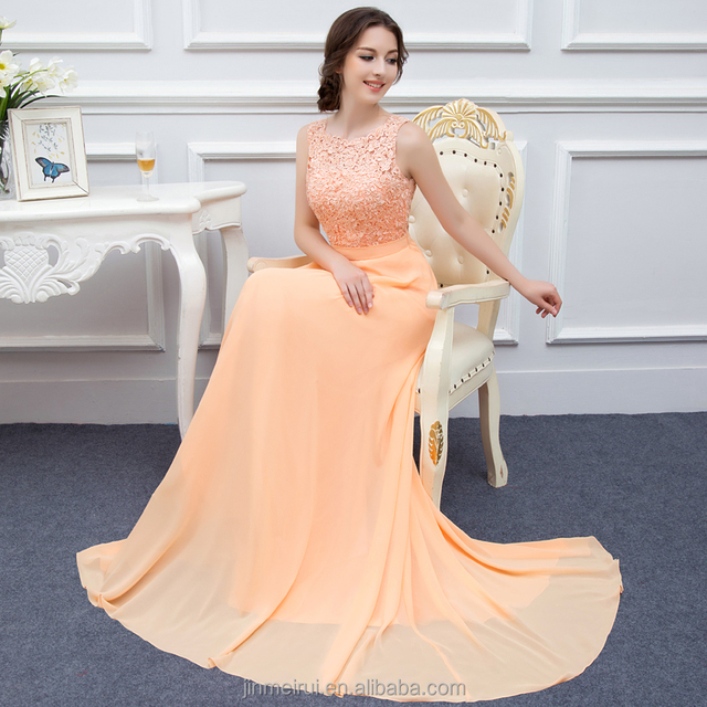 Real pic Coral Color Bridesmaid Dresses 2016 A-line Chiffon Long Cheap Bridesmaid Dress vestido de festa curto