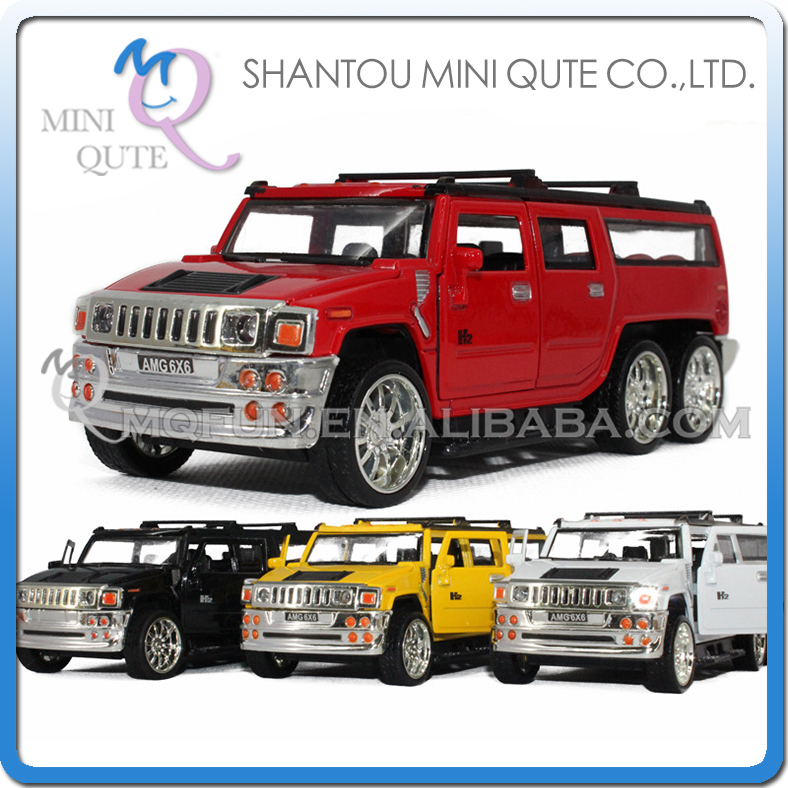 Mini Qute 1:32 kid Hummer Die Cast pull back alloy music luxury racing vehicle model car electronic educational toy NO.MQ 8484E