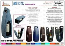Guangdong factory wine packaging free sample leather wine carrier