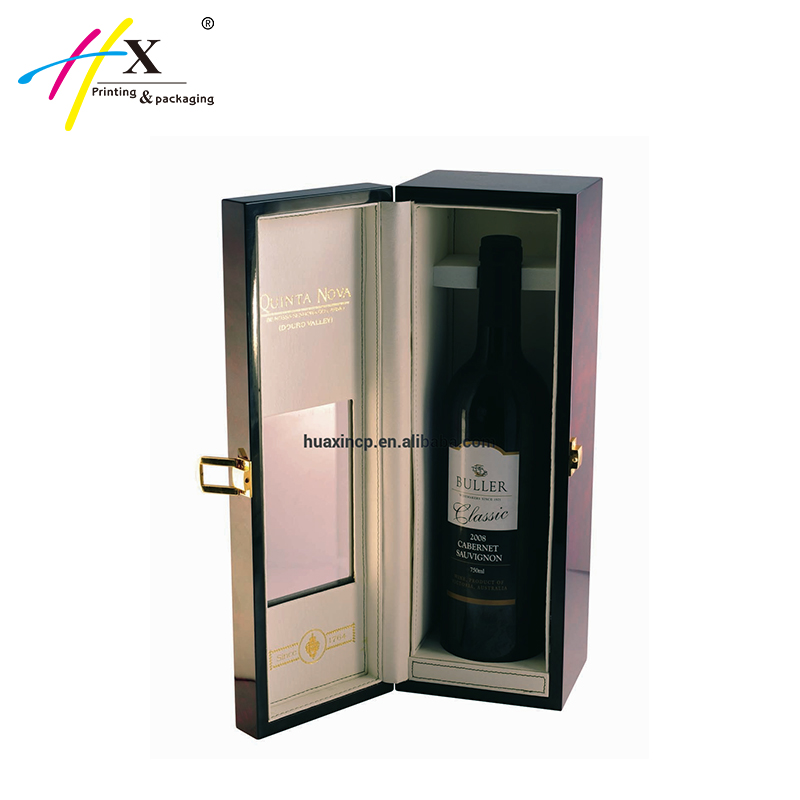 Single bottle wine carrier, single wine box, wooden wine box