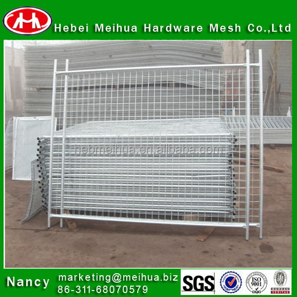 cheap hot dipped galvanized chain link removable temporary metal welded construction security fence mesh panels hot sale