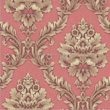 Detai deep embossed PVC wallpaper factory, classic damask designs vinyl washable wall paper