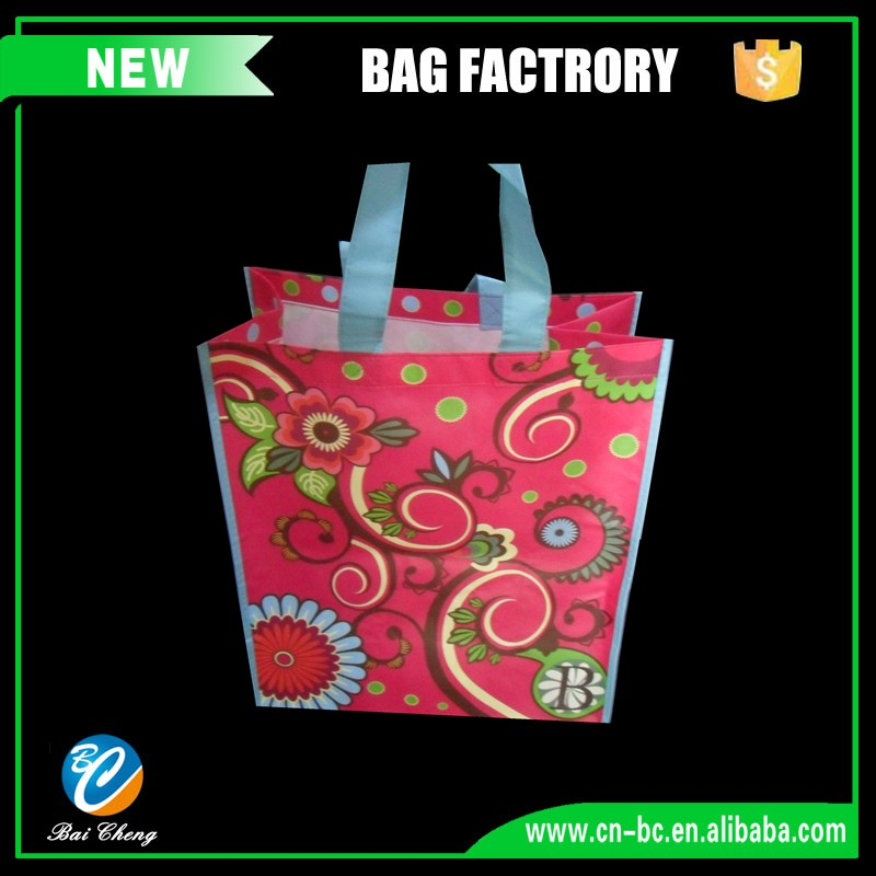 decorative small reusable foldable Non woven shopping bags