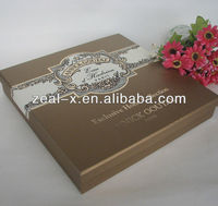 2013 hot slae luxury cosmetic paper box with plastic inner tray