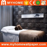 Plastic TV background wall paneling textured wave board 3d wall panels