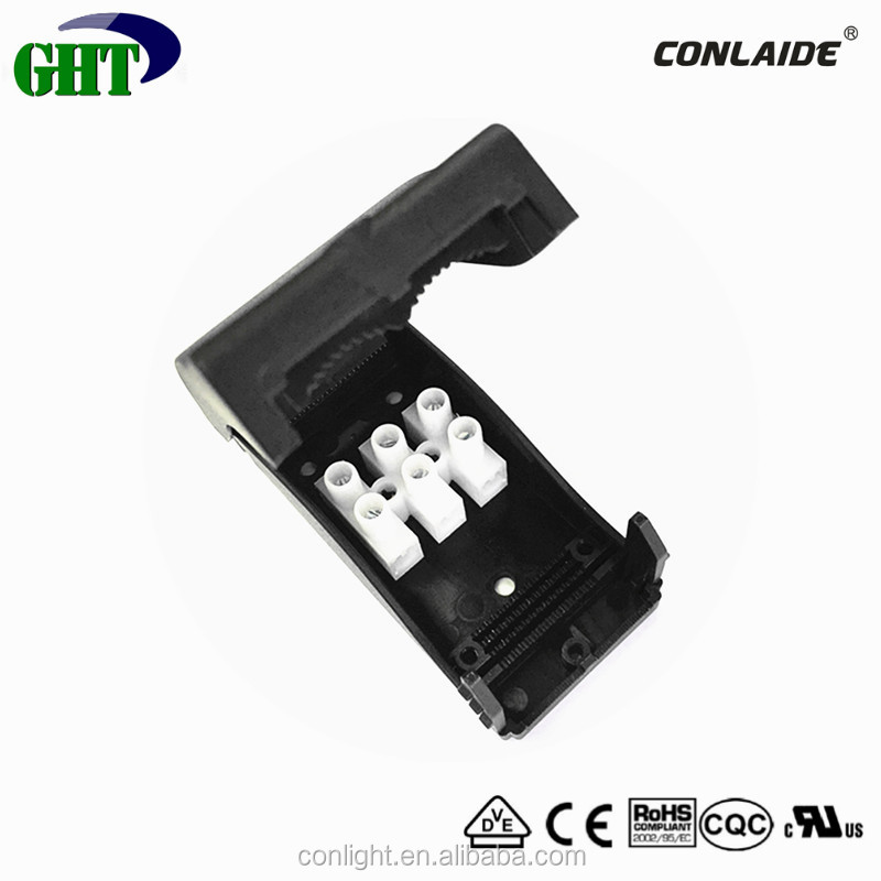 3 Pole Plastic Electrical Connector Box With 3 Pole Pushwire Connector