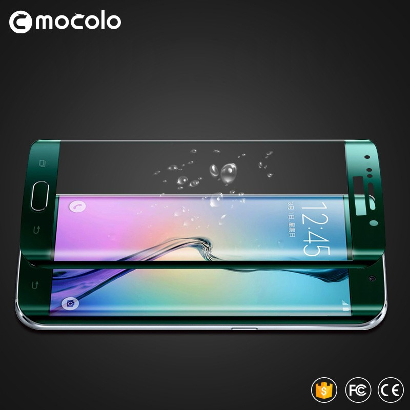 Mobile phone 3D curved tempered glass for S6 edge ,full cover tempered glass screen protector for Samsung S6 edge