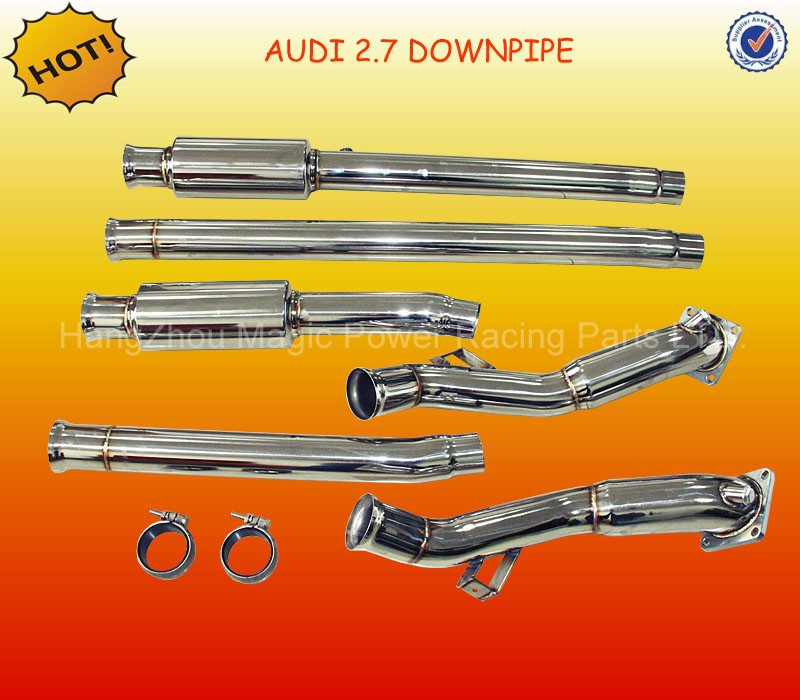 RACING MANIFOLD HEADER+DOWNPIPE + Catback EXHAUST 97/00-02 A*U*DI S4 B5/A6 C5 2.7L BI-TURBO