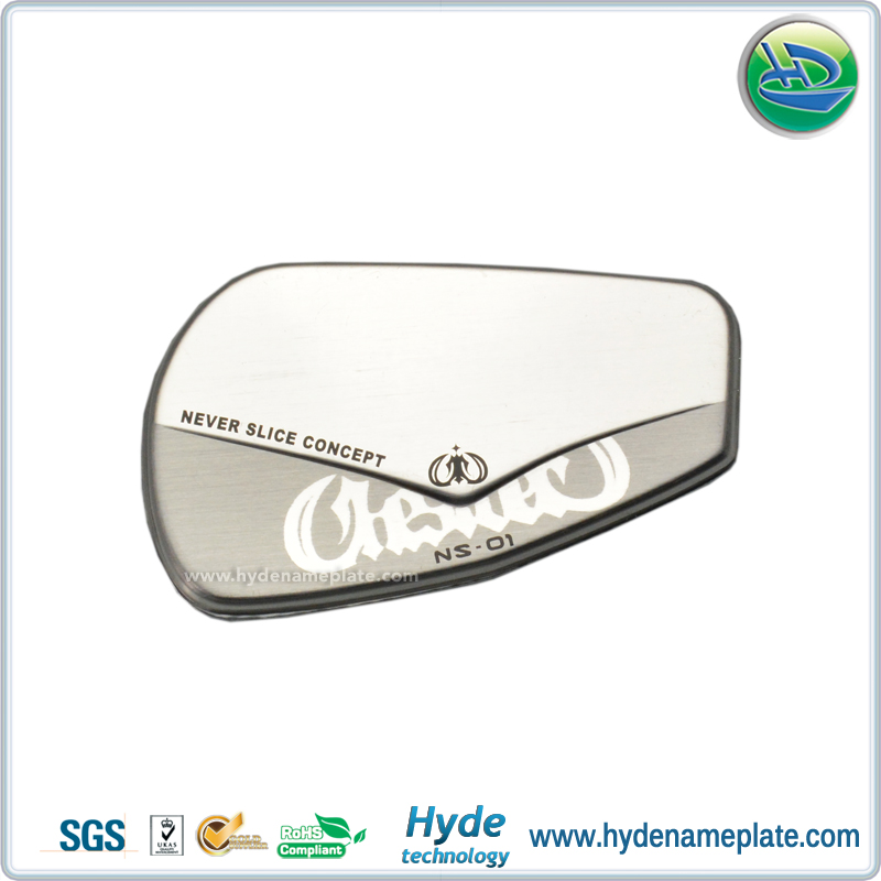 Cheap Wholesale Glossy Silver Custom Logo Nameplate Free Design