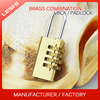 4 Digits Resettable Travel Luggage Brass Lock With Combination
