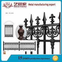 2016 latest black aluminum decorative fence with aluminum spear finials