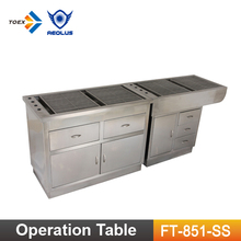 FT-851-SS Multi-functional Veterinary Preparation Dental Tables Vet Equipment