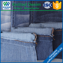 indigo cotton yarn dye knitted twill denim legging fabrics