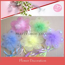 Ribbon silk artifical flower for wedding stage decoration