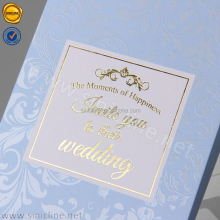 Sinicline elegant custom gold foil logo printing luxurious wedding invitation card