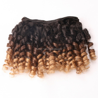 Stock Price Short Hair Brazilian Curly Weave Light Brown Curly Hair Extensions