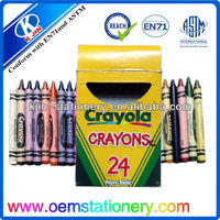 8.8cm 24 crayon set /wax color pencil /finger shape crayon set