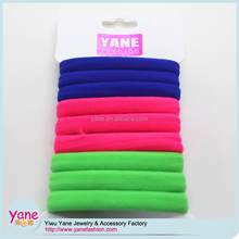 Plain hair bands for women with polyster ponytail holder