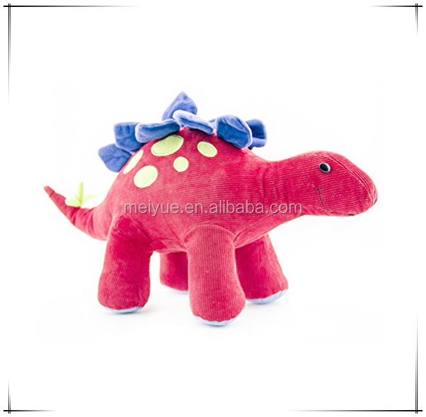 Children Gift Comfortable Rose Red Corduroy Dinosaur