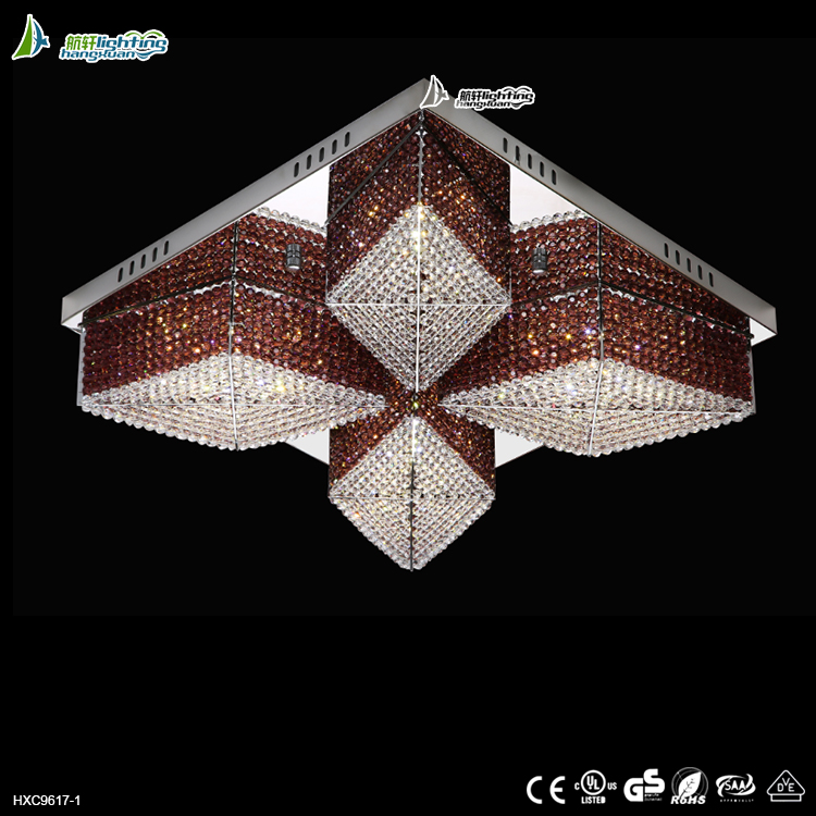 New design luxury chandelier crystal ceiling chandelier lamps for wedding decoration HXC9617-1