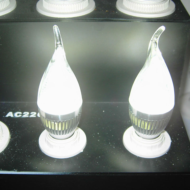 classic Aluminum+glass housing high power led 3w candle bulb made in p.r.c.