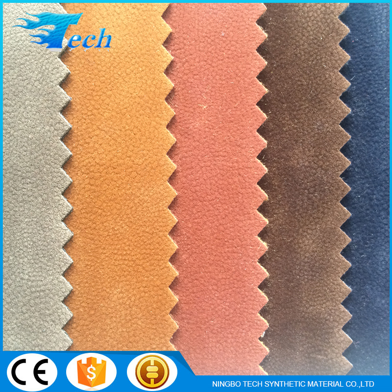 2016 1.0 mm flocked surface and knitted backing pearl velour/textile fabric raw material for shoe making