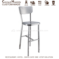 Stainless Steel Bar Stool Chair, Bar Chair Metal for High Table