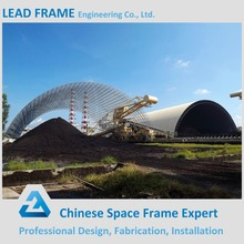 Space Frame semi circular Bulk Materials coal stockpile cover
