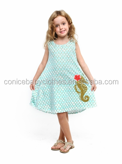 Lovely childrens clothes back to school polka dot dress sleeveless summer wear baby girls outfits