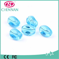wholesale recycled sea pressed oval shape czech smooth glass donut beads for jewelry making