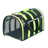 Summer walking dog carrier stripe pet cages & dog houses green and pink color