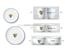 business gift advertisng promotion round porcelain ceramic dinner plate