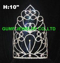 custom big pageant crown rhinestone tiara for party