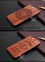 2016 New high quality wood phone case Wholesale Customized Design Logo plastic wooden Mobile accessories for iphone6S,for iphone