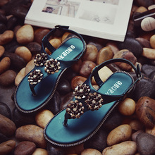 HFRW188 2017 summer hot sale custom flat sandals for ladies pictures