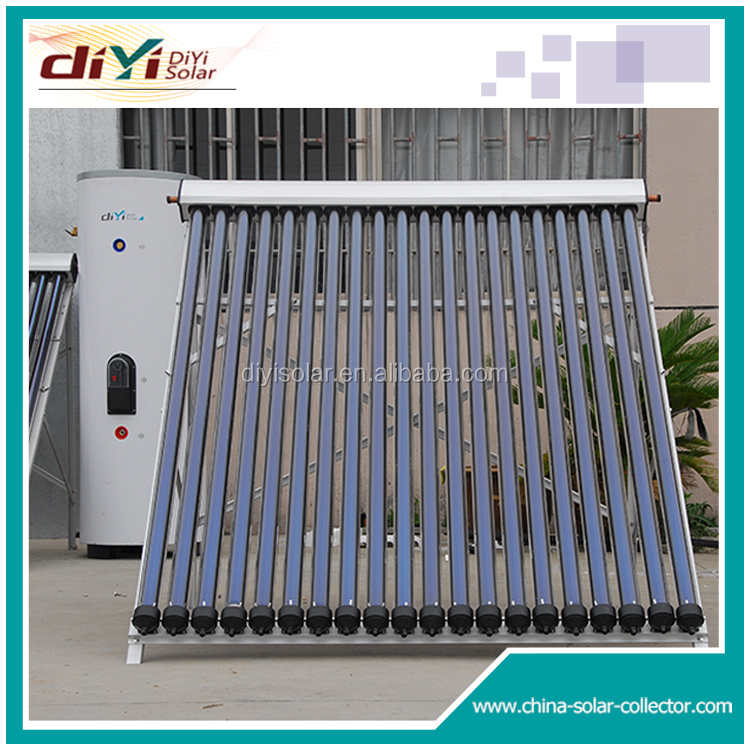 With circulation pump copper coils solar water heating system