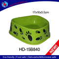 Green ceramic pet food bowl,healthy dog feeds