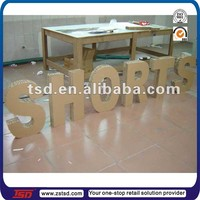 TSD-C239 Custom large 3d sign honeycomb paper board letters , cardboard alphabet letters for shop window decoration