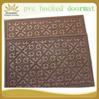 polyester velour emboss door mat roll