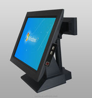 AK-516T Touch POS Terminal with LED Customer Display POS System Restaurant ordering machine