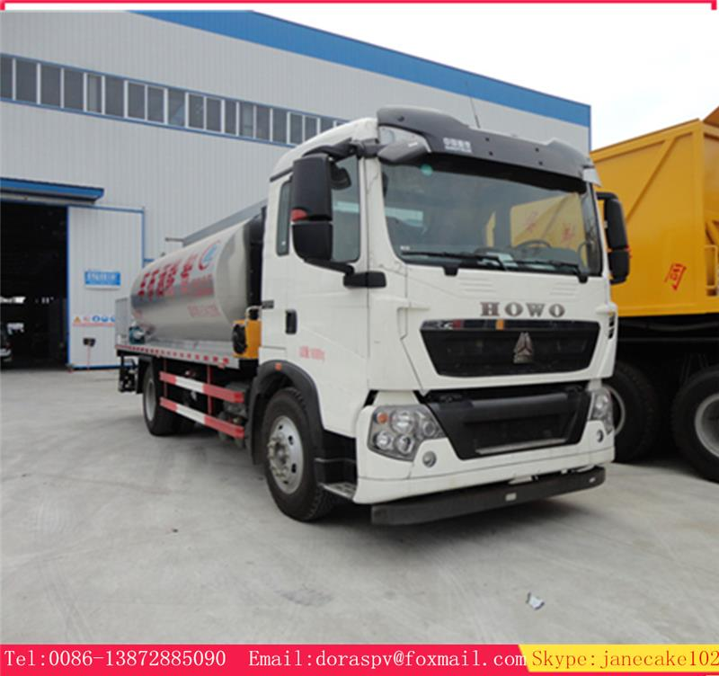 Sinotruck 16 ton asphalt tanker price for bitumen distributor, bitumen spraying truck, spray trucks for sale