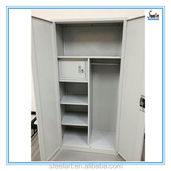 Modern steel clothes wardrobe cabinet designs for bedroom for Cloth cabinet design