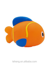 Mini realistic fish shape soft plastic bath toys for baby