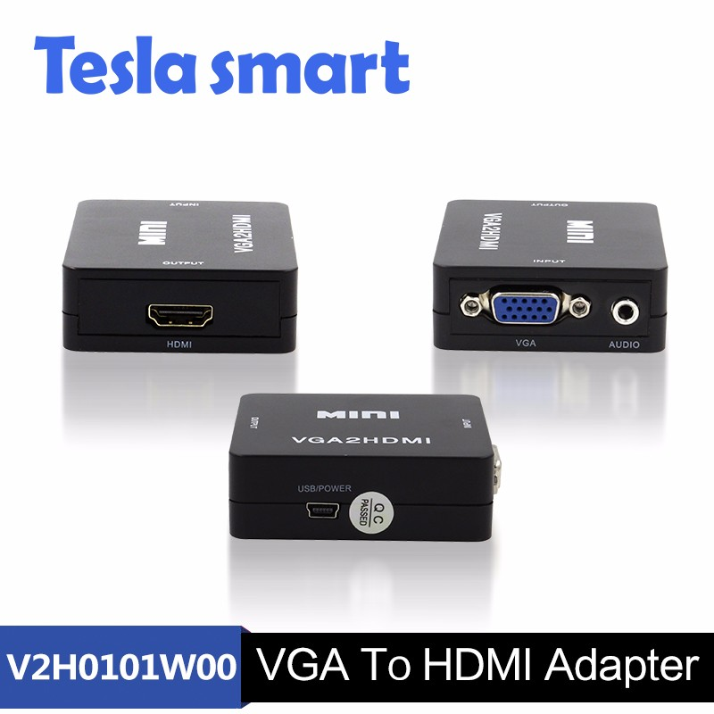 Mini 1080P VGA to HDMI Converter Box VGA2HDMI Converter