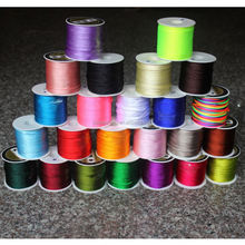 1mm 2mm 3mm Colorful Durable Nylon Chinese Knot Beading Jewelry Cord String Wire Thread DIY Bracelets Necklaces Crafts