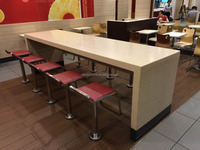 Cheap Starbucks furniture Cafe Table Restaurant Table/KFC table / fast food furniture