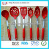 Colorful Samll Kitchen Utensils Stainless Steel Connection With Comfortable Silicone Handle